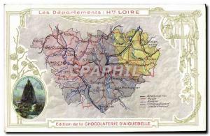 Postcard Old MAPS Chocolaterie d & # 39Aiguebelle High St. Michael Chapel Loi...
