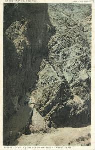 Grand Canyon Detroit Publishing H-1508 Bright Angel Trail~Devils Corkscrew~1907