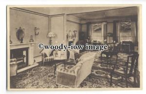 tq0542 - Devon - Writing Room & Lounge in Hotel Windermere, Torquay - Postcard