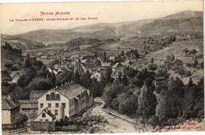 CPA AK Notre Alsace Le Village d'Orbey - entrée Colmar et le Lac Blanc (200107)