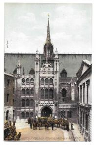 UK London England Guildhall Lord Mayors Carriage Postcard