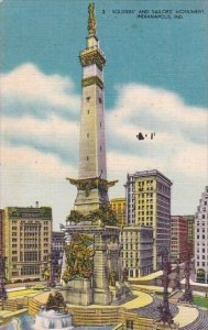 Soldiers And Sailors Monument Indianapolis Indiana 1957