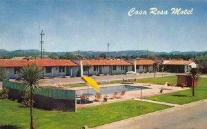 CASA ROSA MOTEL Santa Rosa, California Roadside ca 1950s Vintage Postcard