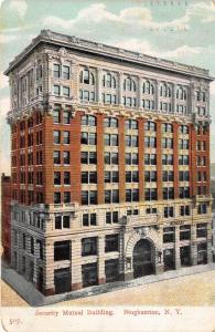Binghamton New York~Security Mutual Life Building~Munn's~c1910 Postcard