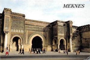 Morocco Meknes Bab Mansour Commencee sous le regne de Moulay Ismail