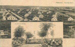 Czech Republic Postcard Milovice military camp cemetery