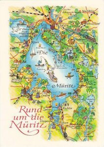 Map Germany Rund Um Die Mueritz
