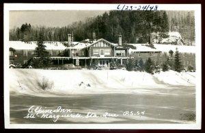 dc1581 - STE. MARGUERITE STA. Quebec 1940s Alpine Inn. Real Photo Postcard