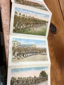 US Army Life In Cantonment Souvenir Folder Antique Postcard K33007