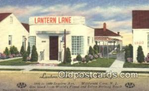Wildwood Crest, NJ USA Lantern Lane Cottage Colony Road Side Postcard Post Ca...