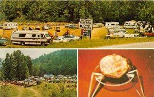 Franklin North Carolina 1960s Postcard Gregory's Ruby Mine & Campground