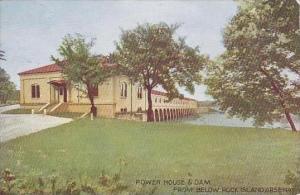 Illinois Rock Island Arsenal Power House &  Dam From Below