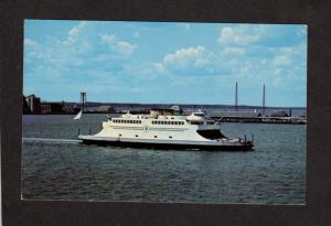 RI Jamestown Ferry Ship Boat Newport Narragansett Bay Rhode Island Postcard