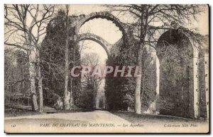 Old Postcard Chateau de Maintenon aqueducts