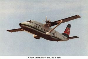 Manx Airlines Shorts 360 Postcard