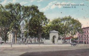 New Hampshire Concord State Capitol And Memorial Arch