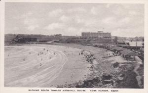 YORK, Maine, 1900-1910´s; Bathing Beach Toward Marshall House, York Harbor