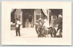 Fairfield IA Tribune Newspaper~Helen Hall/Pony~Sold Mag Subscriptions*~RPPC 1910