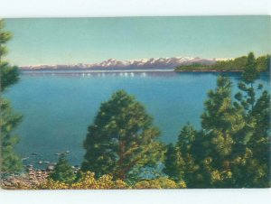 Pre-1980 LAKE SCENE Lake Tahoe California CA AE3864