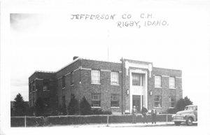 F38/ Rigby Idaho RPPC Postcard c1950s Jefferson County Court House