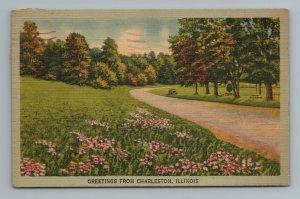 Greetings from Charleston Park Nature Walk Illinois Postcard