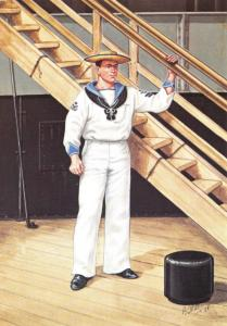 Postcard Uniforms of Royal Navy, 1st Class Petty Officer HMS Terrible 1897 #15-3