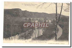 The Banks of lOrne Clecy Old Postcard THE viaduct Vay