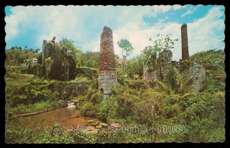 Ruins of Old Sugar Mill - Jamaica, W.I