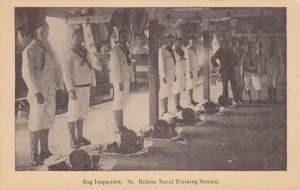 NORFOLK , Virginia , 1900-10s; St Helena Naval Training Station,Bag Inspection