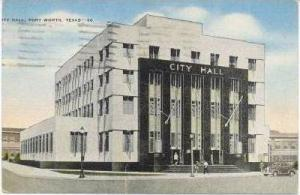 City Hall, FORT WORTH, Texas,  PU-1945