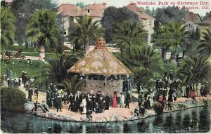 In Westlake Park on Christmas Day Los Angeles CA 1911 D/B