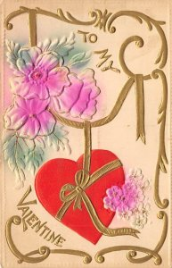 Antique Valentines Day Postcard PU 1912
