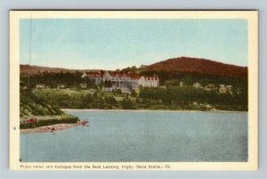 Digby NS-Nova Scotia, Pines Hotel And Cottages, Boat Landing, Linen Postcard