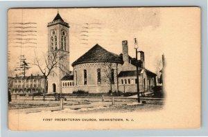 Morristown NJ-New Jersey, First Presbyterian Church, Vintage c1923 Postcard