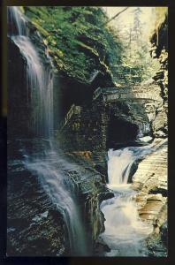 Watkins Glen, New York/NY Postcard, Rainbow Falls