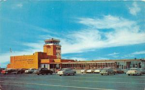 Wilmington Delaware~New Castle County Airport Terminal Bldg~NICE 50s Cars Parked