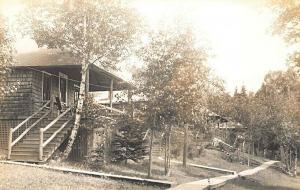 Rangeley Lakes ME A Mingo Bungalow Mingo Springs Real Photo Postcard