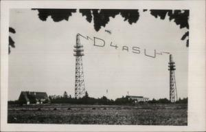 Bayreuth Germany Radio Wireless Station D4ASU Real Photo Postcard