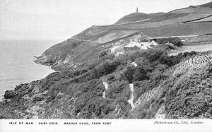 Port Erin Isle of Man birds eye view Bradda Head from east antique pc Y11564
