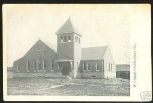 COLUMBIA CENTER Ohio Postcard ME Church Newark Licking