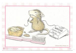 Modern Advertising Postcard Dental Floss Mouse Appt Card