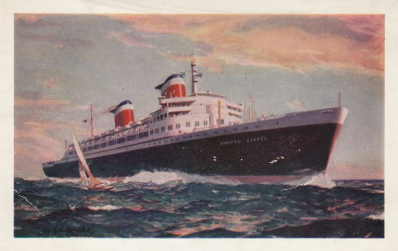 S.S. UNITED STATES, Flagship of the United States Lines, 1950s