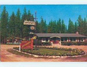 Pre-1980 BECKER'S BUNGALOWS MOTEL Jasper Alberta AB o0597