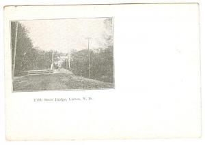 LISBON , North Dakota , PMC 1898 ; Fifth Street Bridge