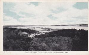 Illinois River from Grand View Drive, PEORIA, Illinois, 10-20s