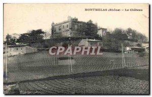 Old Postcard Rhone Montmelas the castle