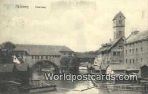 Nurnberg Germany, Deutschland Postcard Kettensteg  Kettensteg