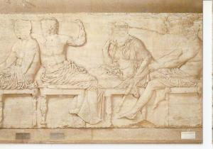 Postal 045741 : The British Museum. Hermes Dionysos Demeter and Ares