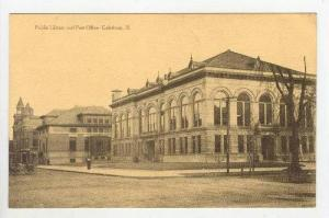Public Library & Post Office,Galesburg,Illinois ,00-10s