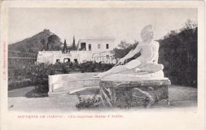 Souvenir de CORFU - Villa Imperiale - Statue d'Achille , Greece  , 1890s